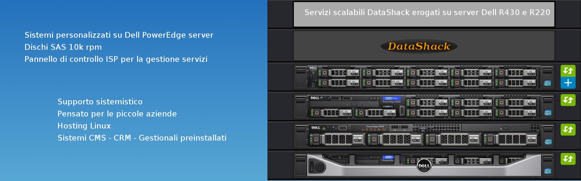 Servizi hosting su server Dell