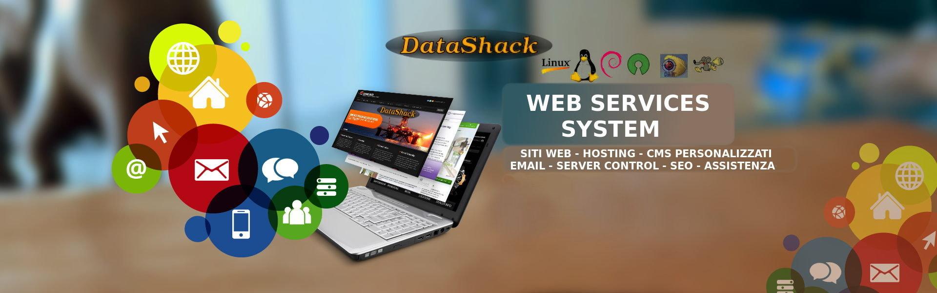 DataShack Internet Services,siti web, responsive, per dispositivi mobile, mail motori di ricerca